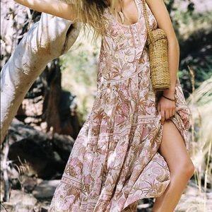 Jungle Maxi DRESS Sundress Gypsy Boho Cream NEW